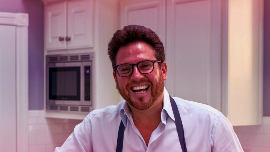 Podcast episode with chef Scott Conant author of Peace. Love. Pasta.
